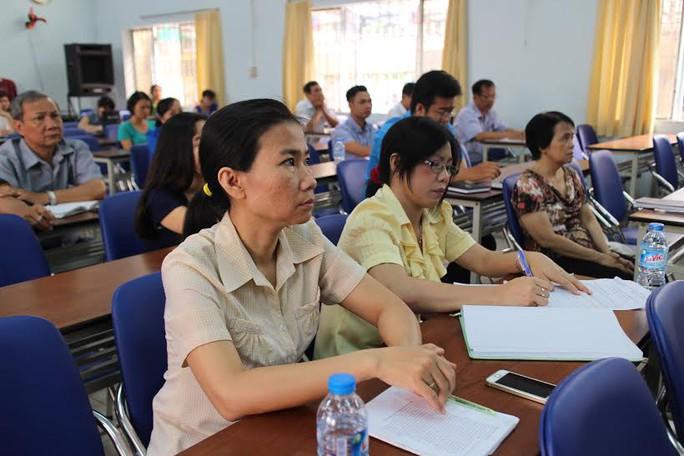 CNVC-LĐ quận 3, TP HCM nghe báo cáo thời sự về tình hình biểnđảo Việt Nam