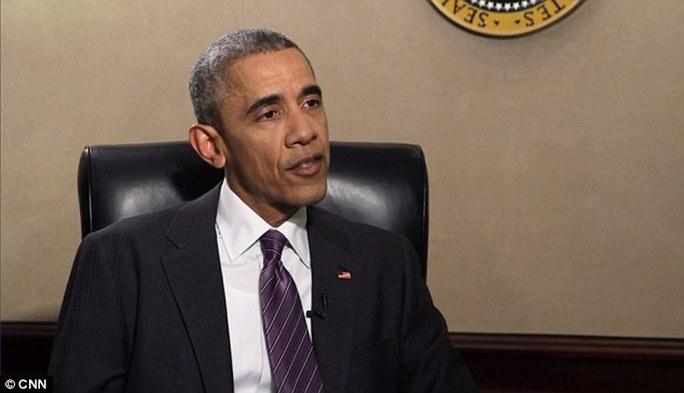Tổng thống Obama trong cuộc phỏng vấn với CNN. Ảnh: CNN