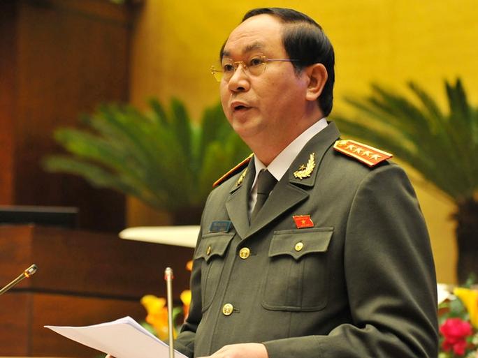 Bộ trưởng Bộ Công an Trần Đại Quang, thừa ủy quyền của Thủ tướng Chính phủ, sẽ trình QH dự án Luật Biểu tình vào tháng 3 tới