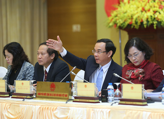 Bí thư Trung ương Đảng, Bộ trưởng - Chủ nhiệm Văn phòng Chính phủ Nguyễn Văn Nên tại cuộc họp báo