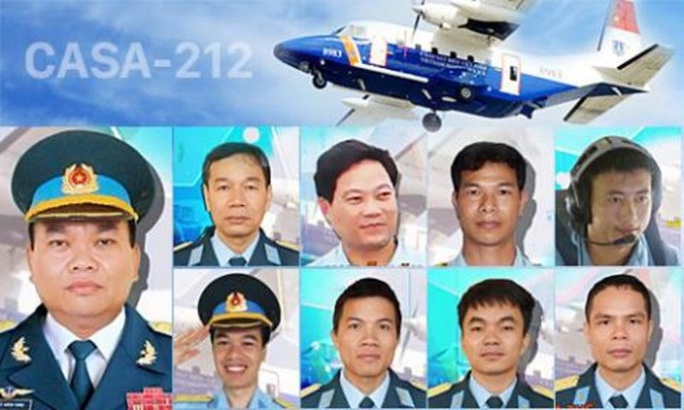 9 liệt sĩ phi hành đoàn máy bay CASA-212 - Ảnh: BQP
