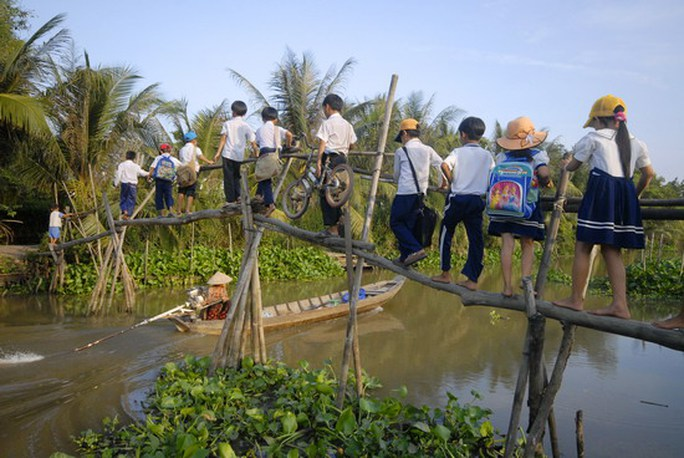 CNVC-LĐ góp sức xóa cầu khỉ