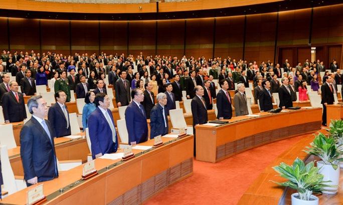 Quốc hội khoá XIII làm lễ chào cờ, bế mạc kỳ họp cuối cùng vào ngày 12-4-2016 - Ảnh: Nguyễn Nam