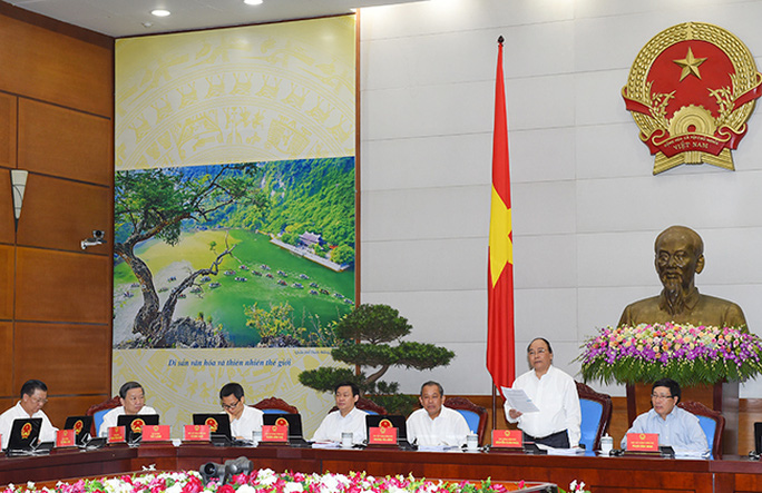 Thủ tướng chủ trì phiên họp Chính phủ thường kỳ tháng 5-2016