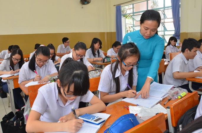Điểm chuẩn vào một số trường THPT tại TP HCM có nhiều biến động. Trong ảnh: Học sinh tại Trường THPT Lương Thế Vinh Ảnh: TẤN THẠNH
