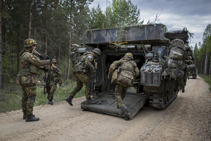 Một cuộc tập trận của NATO ở Estonia gần đây Ảnh: The Washington Post