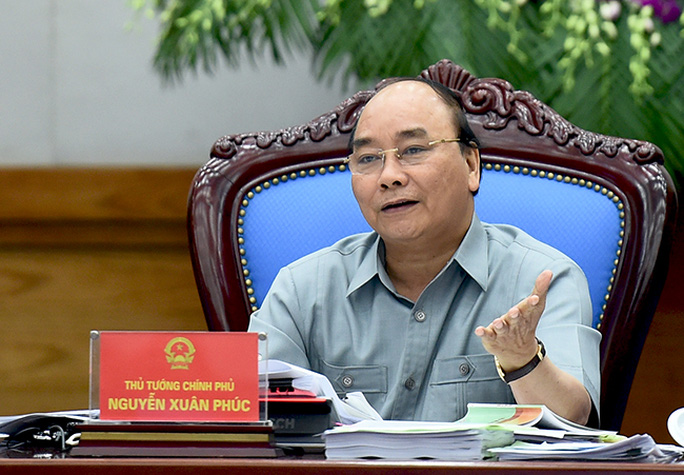 Thủ tướng Nguyễn Xuân Phúc chủ trì phiên họp thường kỳ Chính phủ vào ngày 1-7 Ảnh: Chinhphu.vn