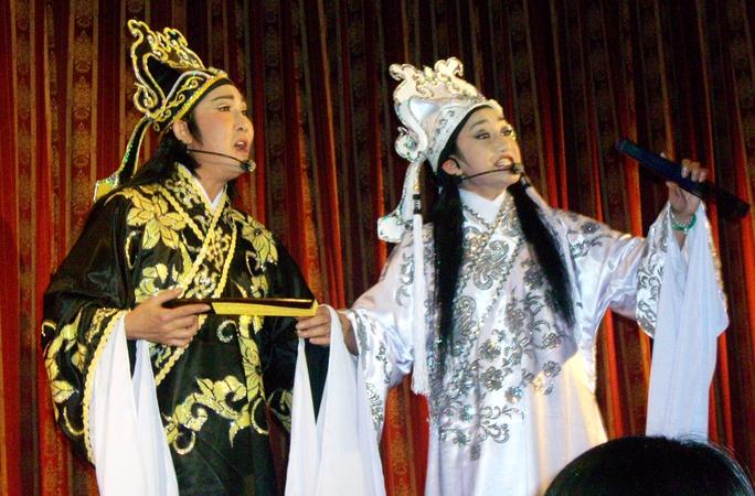 NSƯT Vũ Linh và Thanh Thanh Tâm trong vở Lương Sơn Bá - Chúc Anh Đài