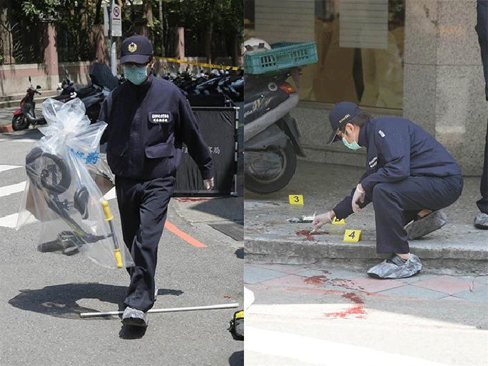 Cảnh sát khám nghiệm hiện trường. Ảnh: China Times