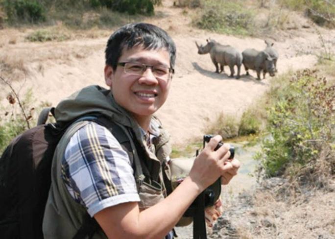 Nhà báo Đỗ Doãn Hoàng trong một lần tác nghiệp - ảnh CTV
