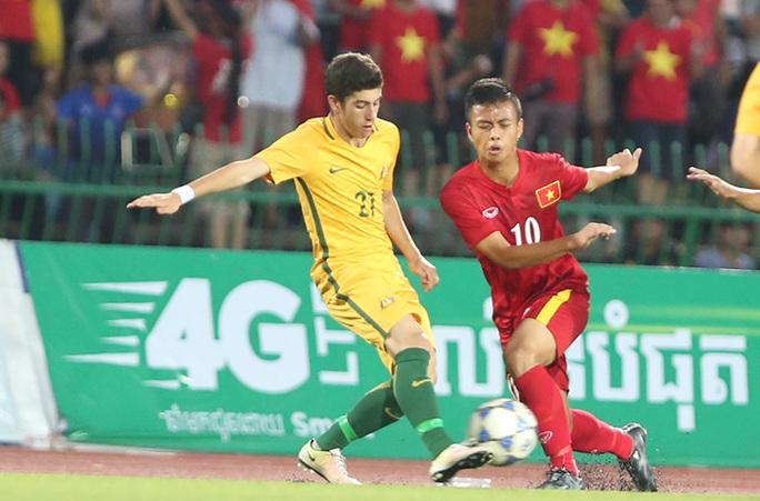U16 Việt Nam thi đấu lấn lướt hơn U16 Úc