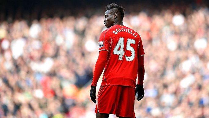 Tiền đạo Balotelli của Liverpool