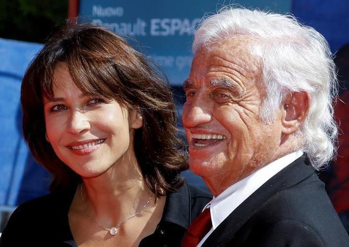Jean-Paul Belmondo và nữ diễn viên Sophie Marceau