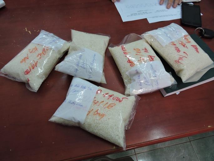 Số gạo được niêm phong để lấy mẫu mới