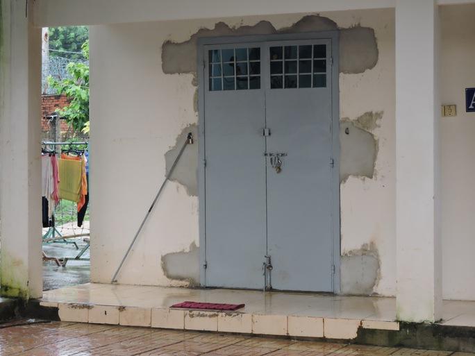 Cửa ở trung tâm đã được gia cố lại sau sự cố học viên trung tâm trốn trại
