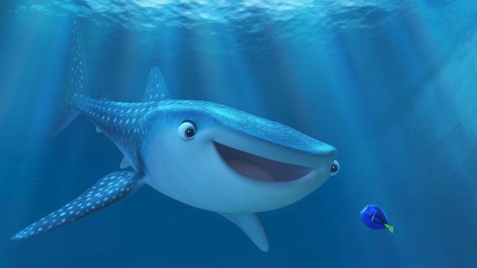 Dory và người bạn lớn của mình cá voi cận thị