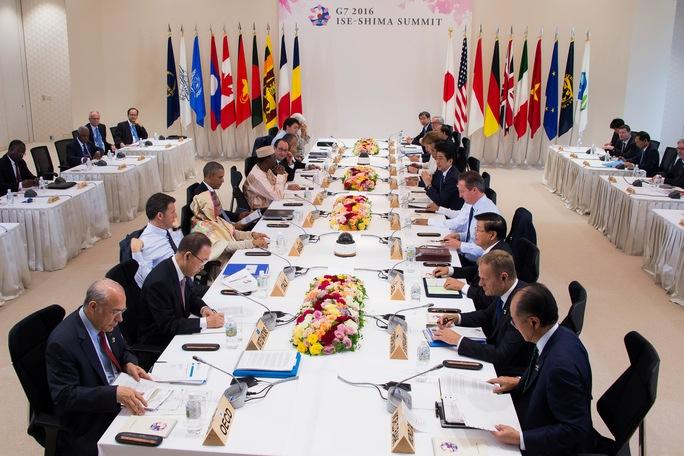 Hội nghị thượng đỉnh G7 lần thứ 42 tại thành phố Ise Shima, Nhật Bản bế mạc hôm 27-5 Ảnh: REUTERS