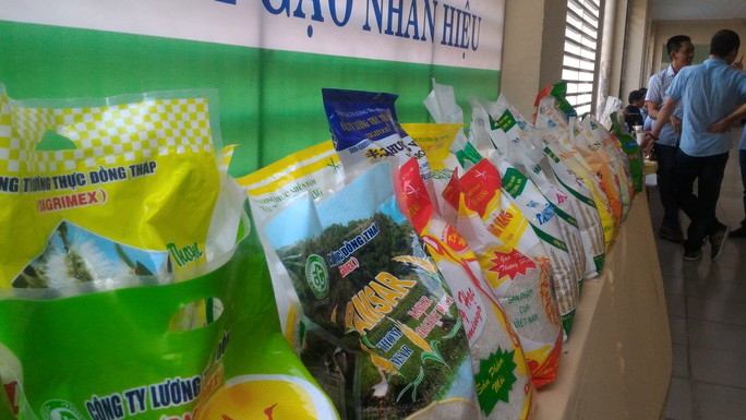 Một số loại gạo Việt Nam trưng bày trong các hoạt động xúc tiến thương mại
