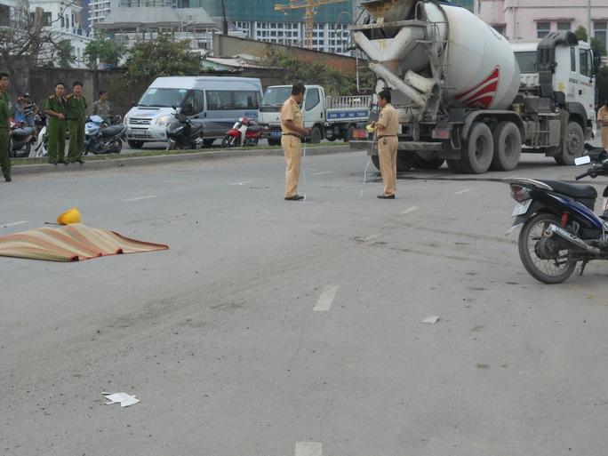 Hiện trường vụ tai nạn (ảnh: G.M)