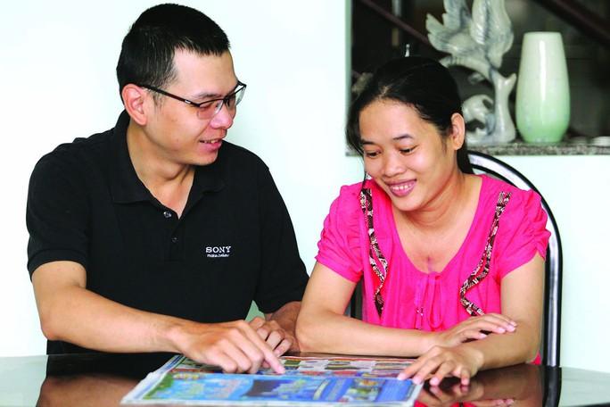 Niềm hạnh phúc của nữ công nhân Nguyễn Thị Ánh Vệ và chồng - anh Nguyễn Hữu Trung