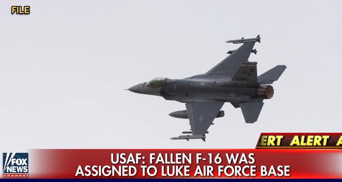 Chiếc máy bay gặp nạn thuộc biên chế của Phi đội 56 đóng tại căn cứ không quân Luke. Ảnh: Fox News
