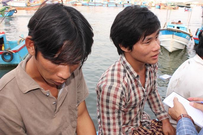 Các ngư dân kể lại sự việc