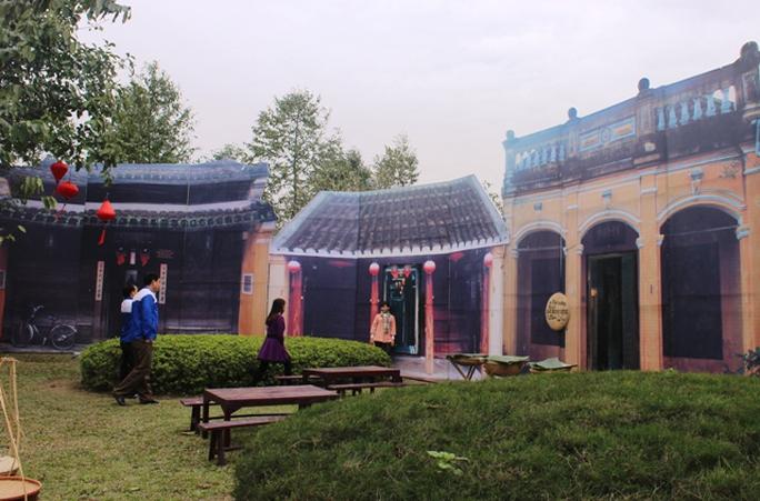 Ngoài ra, hình ảnh Phố cổ Hội An - Di sản Văn hóa thế giới cũng được hiện hữu đặc sắc tại Công viên Hội An, TP Thanh Hóa