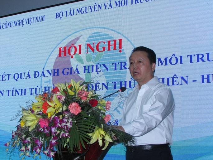 Bộ trưởng TNMT Trần Hồng Hà phát biểu tại hội nghị