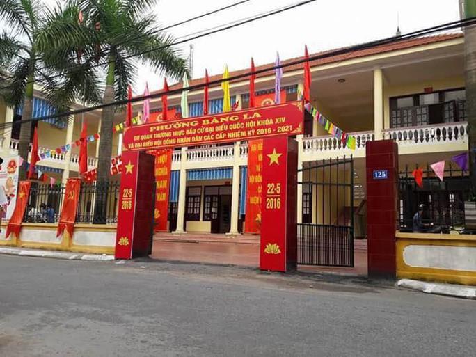 Trụ sở phường Bàng La, nơi ông Hoàng Đăng Giảng công tác