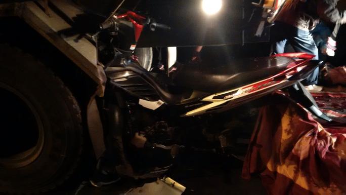 Chiếc xe máy anh Long bị hư hỏng nặng