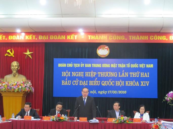 Hội nghị hiệp thương lần hai bầu cử ĐBQH khoá XIV diễn ra sáng 17-3-ảnh: Văn Duẩn