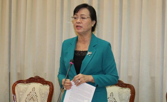 Chủ tịch Ủy ban Bầu cử TP Nguyễn Thị Quyết Tâm chủ trì cuộc họp sáng 26-5