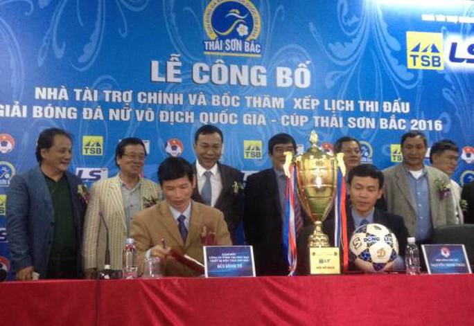 Lễ bốc thăm xếp lịch thi đấu giải bóng đá nữ Vô địch Quốc gia - Cúp Thái Sơn Bắc 2016