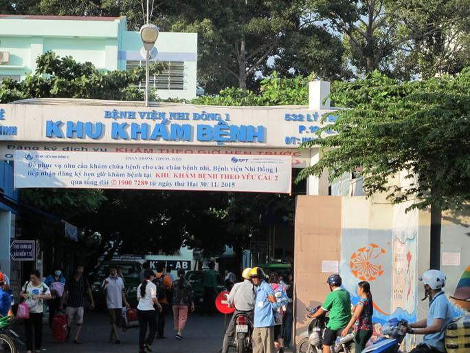 Bệnh viện Nhi Đồng 1, nơi xảy ra vụ tiêu cực vé khám bệnh giả.