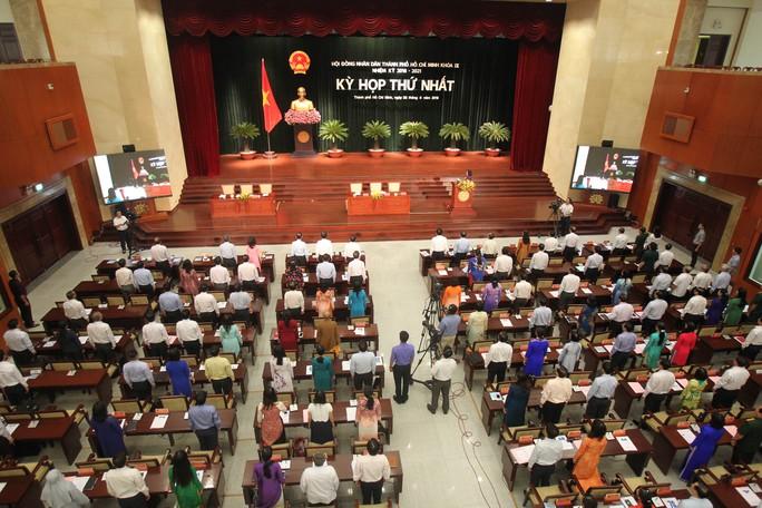 Quang cảnh kỳ họp thứ nhất HĐND TP khóa IX