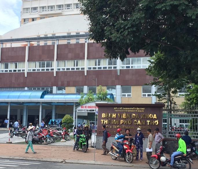 Bệnh viện đa khoa TP Cần Thơ, nơi xảy ra vụ việc.