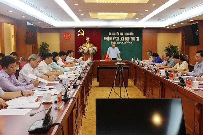 Ủy ban Kiểm tra (UBKT) Trung ương đã họp kỳ thứ VI - Ảnh: UBKTTƯ