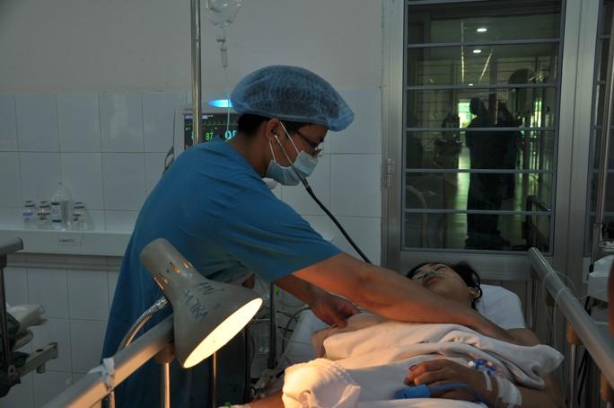Bệnh nhân Tân đang được điều trị tại bệnh viện