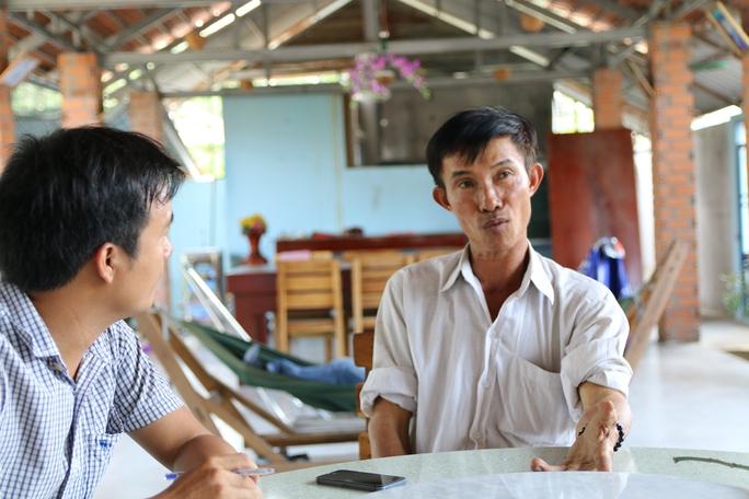 Ông Nguyễn Văn Bỉ (người bị khở tố vì xây dựng chòi vịt không có giấy phép.