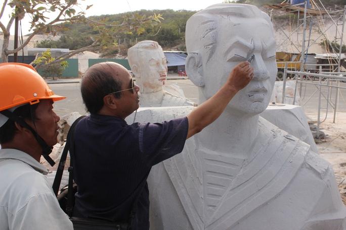 70% phần tượng đài tưởng niệm chiến sĩ Gạc Ma đã hoàn thành