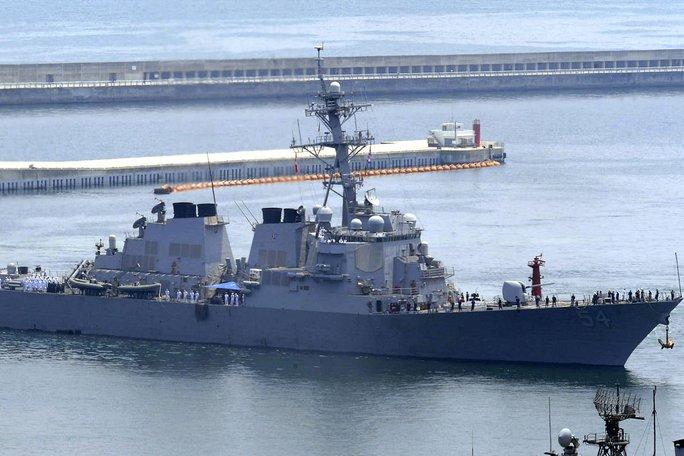Tàu khu trục USS Curtis Wilbur Ảnh: AP