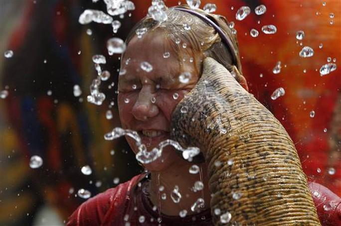 Một du khách tham gia lễ hội té nước ở tỉnh Ayutthaya – Thái Lan Ảnh: Reuters