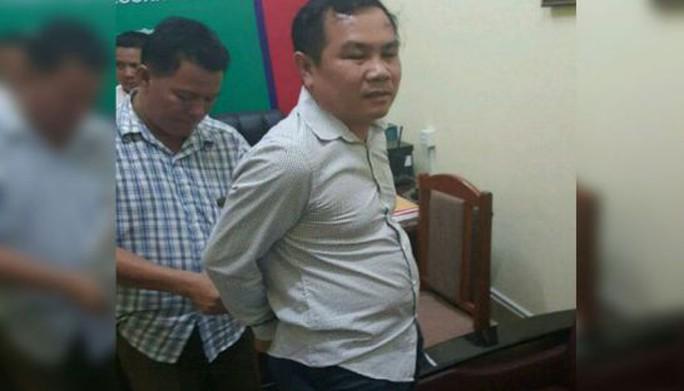 Um Sam An bị bắt tại tỉnh Siem Reap. Ảnh: THE PHNOMPENH POST