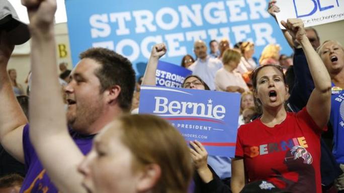 Ông Sanders thu hút nhiều sự ủng hộ nhưng chưa đủ để đánh bại bà Clinton. Ảnh: AP