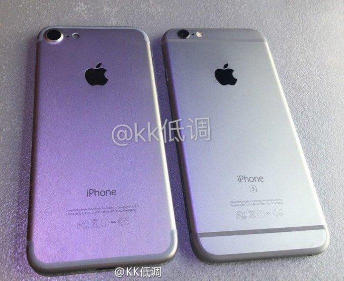 iPhone mới bên cạnh iPhone 6s. Ảnh rò rỉ gần đây trên Internet.