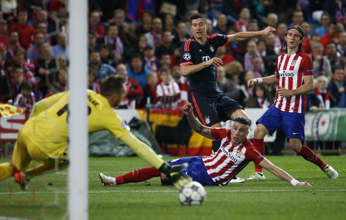 Những cơ hội hiếm hoi mà Bayern Munich tạo ra trước khung thành Atletico đều không thắng được thủ môn Jan Oblak