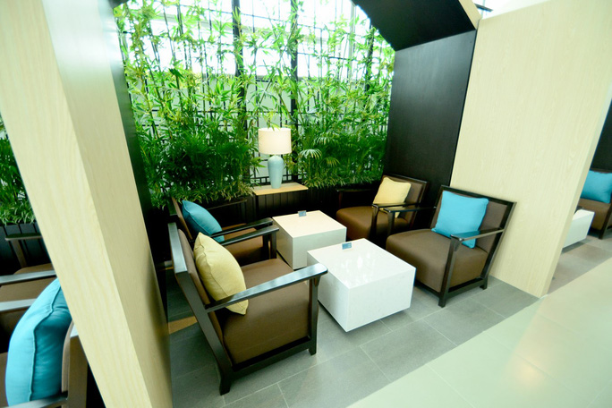 Khu vực đọc sách với không gian yên tĩnh, xanh mát