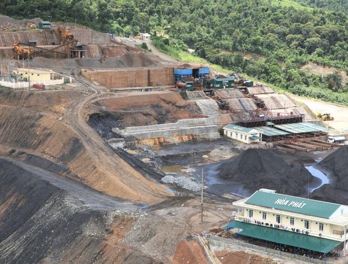Một trong hai mỏ quặng huyện Vị Xuyên, tỉnh Hà Giang mà Hòa Phát xin trả lại