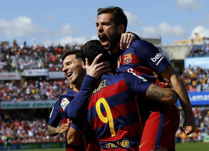 Barcelona giành ngôi vô địch La Liga 2015-2016 Ảnh: REUTERS
