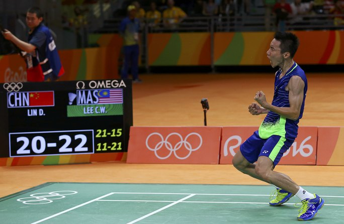 Niềm vui chiến thắng của Lee Chong Wei sau 2 kỳ Olympic toàn thua Lin Dan